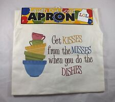 Laugh Out Loud Apron -- New - Get Kisses From the Misses When You Do the Dishes