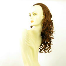 DT Half wig HairPiece extensions long curly coppery golden brown 22.8  REF 16/30