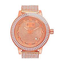 Mens Rose Gold Tone Real Diamond Jojino/Jojo/Joe Rodeo Custom Bezel Band Watch