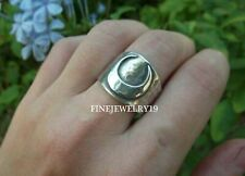 925 Solid Sterling Silver Handmade Designer Moon Band Ring Silver Band Jewelry