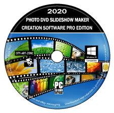 DVD de software de creación de fabricante de presentación de diapositivas de fotografías (PC) + nueva imagen y video Editor