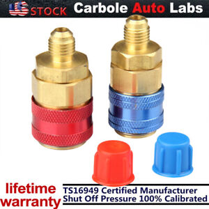 2X AC R134A Quick Coupler Connector Adapter Conditioning Manifold Gauge Low/High