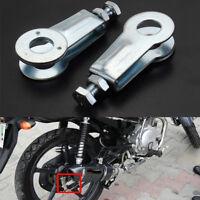 2X Rear Wheel Chain Adjusters Pullers 15mm Axle Fit For Yamaha YBR 125 YBR125