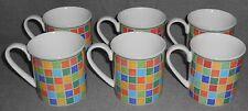 Set (6) Villeroy & Boch TWIST ALEA - LIMONE PATTERN Handled Mugs
