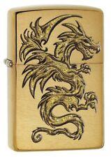 Zippo 29725 Dragon Design Brushed Brass Finish Lighter