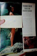 Autographed Note Card Julie Newmar COA actress & magazine images McKenna's Gold