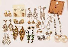 18 Piece Mixed Style Rhinestone Pierced Earring Lot