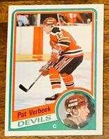 1984-85 Topps #90 Pat Verbeek New Jersey Devils Rookie - NMT.