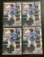 Brandon Lowe RC Lot(4) 2019 Bowman #98 Tampa Bay Rays