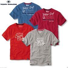 T-Shirt V-Neck kurzarm M L XL XXL Tom Tailor, Farbwahl