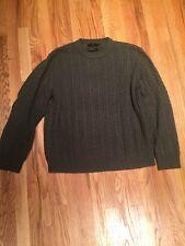 Black Brown 1826 L.U.X. Cashmere Sweater Green Size Large