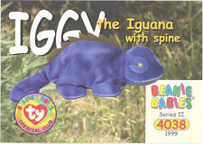 Ty Beanie Babies Bboc Card - Series 2 Common - Iggy the Iguana (w/Spine) - Nm/M