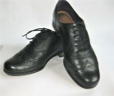 Clarks Dress Shoes WingTip Oxford RoundToe Black US5 Leather Lace Up Perforated