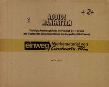 Addio! Manhattan ORIGINAL Umschlag Edie Sedgwick / Andy Warhol / Viva KULT