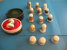 Lot of 15 Vintage Thimbles Porcelain  G11