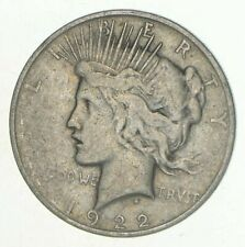 Early - 1922-D - Peace Silver Dollar - 90% US Coin United States $1.00 VG-XF