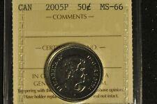 Canada 2005P Quarter 50 Cent - ICCS - MS66 -
