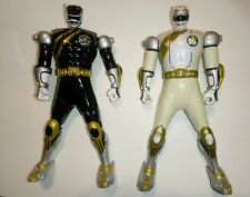 "Power Rangers/Black/White/Bandai/Wild/Force/Spin/Action/Flip/ Head/6"" 2001/works"