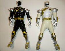 "Power Rangers/Black/White/Bandai/Wild/Force/Spin/Action/Flip/ Head/6"" 2001/works"