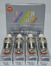 NGK Laser Iridium Spark Plugs (2) RE7CL Trailing (2) RE9BT Leading for MAZDA RX8