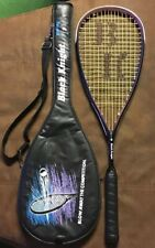 BLACK KNIGHT GRAPHITE GRAVITY SERIES GS 7410 SQUASH RACQUET EXCELL COND NEW GRIP