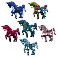 10pcs/lot Sequins Unicorn Iron-On Patches Sew On Clothes DIY Accessories Sticker