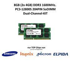 Unimega 8gb (2x 4gb) canal dual kit ddr3 1600mhz pc3-12800s 204pin RAM sodimm