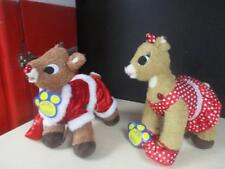 BUILD-A-BEAR RUDOLPH & CLARICE PLUSH REINDEER W/OUTFITS w/orig tags