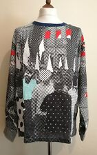 DOLCE & GABBANA Oversized Print Linen LongSleeve Casual Shirt  ITA 48 uk 38