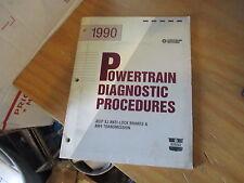 Chrysler Jeep Factory XJ Powertrain Diagnostic Procedures 816990040 81-699-0040