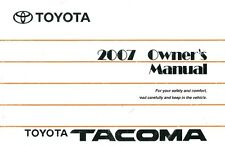 2007 Toyota Tacoma Owners Manual User Guide Reference Operator Book Fuses Fluids