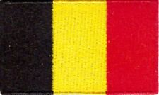 Belguim Flag Small Iron On / Sew On Patch Badge 6 x 3.5cm BELGIAN Belgique