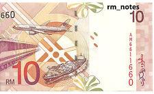 "MALAYSIA  RM10 AHMAD DON 1998 Radar/Nice No. AM_6611660 ""aUNC"""