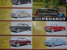 catalogue brochure PEUGEOT 404 COUPE & CABRIOLET + 403 & D4B / FRANCAIS