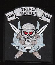 ARMY Special Forces ODA-555 Military Patch TRIPLE NICKLE
