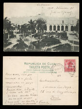 old post card CUBA la havane matanzas parque central - central park