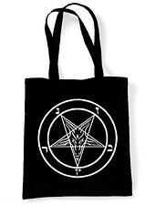 Pentagram Tote / Shoulder Bag Pagan Crowley Satanic Goth Magick Gothic