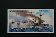 NASSAU  German Navy  Dreadnought  Battleship  Original 1910 Vintage Card  VGC