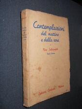 Contemplazioni del mattino e della sera Salvaneschi Corbaccio 1938 L10