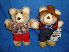 Furskins Bears Lot 2pc 1986 Wendy's Resturant Plush Toy