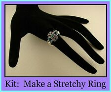Stretchy RING Kit ~Instructions & Photos Swarovski Crystal Elements U Pick Color