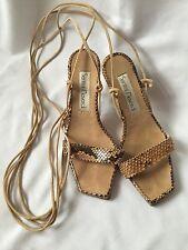 Santini Mavardi Snake Sandals With Lace Up Size UK 3(36)