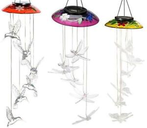 Decorative Glass Topper Solar Mobiles (Butterfly, Dragonfly or Hummingbird)