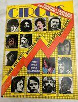 CIRCUS MAGAZINE JANUARY 1972 MOUNTAIN,GRATEFUL DEAD,SANTANA rock calendar incl