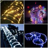 100LED 12M Solar Power String Fairy Lights Rope Tube Lamp Garden Yard Party AU