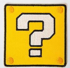 Super Mario Coin Block Aufnäher Patch Abzeichen Bügelbild Cap Badge Hut Kostüm