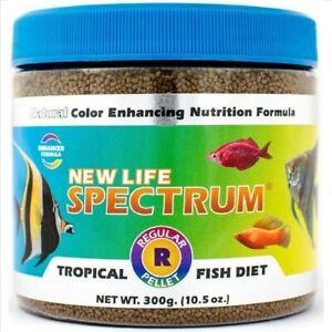 New Life Spectrum Regular Pellet Sinking Pellet Tropical Fish Food 1mm 300g