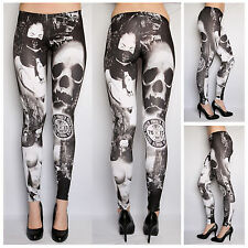 Yakuza Damen Leggings LEB 442 | NEU | Yakuza Girlie Leggings in Schwarz / Weiß