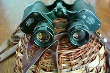 E.Leitz Wetzlar Binux Binuxit 8x30 Military Binoculars and Zeiss Leather Case