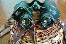 E.Leitz Wetzlar Binux Binuxit 8x30 Military Binoculars and Leather Case Rare